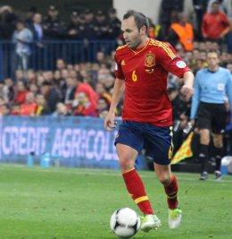 Andrés Iniesta selección española