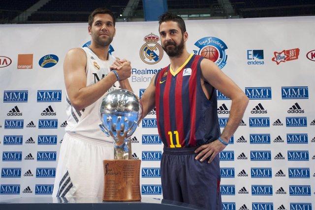 Felipe Reyes y Juan Carlos Navarro presentan el 'play-off'