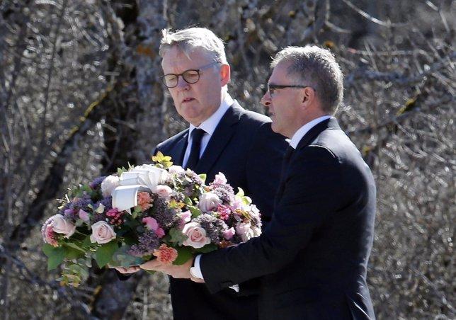 Presidentes de Lufthansa Carsten Spohr  y Germanwings Thomas Winkelmann