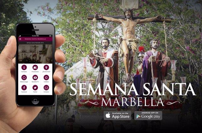 Una app de la Semana Santa de Marbella lleva más de 2.000 descargas
