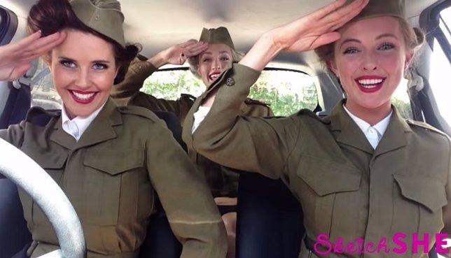 El trío de SketchSHE repasa grandes éxitos musicales en este vídeo viral