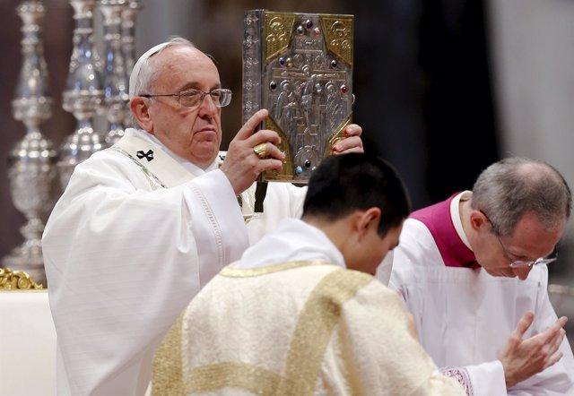Papa Francisco en la misa de Jueves Santo