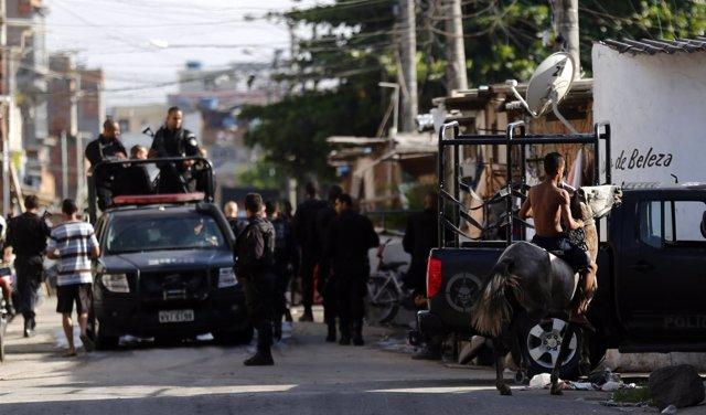 El Complejo Maré, una favela del norte de Río de Janeiro