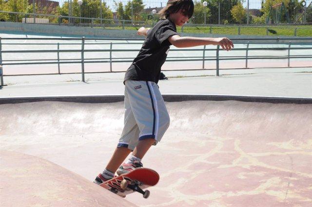 Skater en Madrid, patín