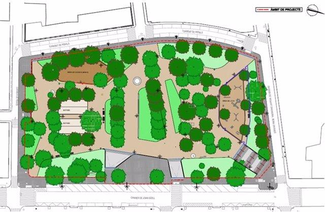 El proyecto de remodelación de los jardines de Can Mantega