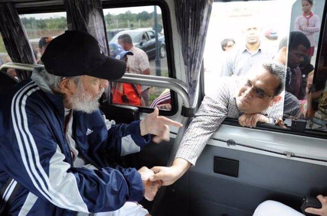 Fidel Castro reaparece ante el público (abril 2015)