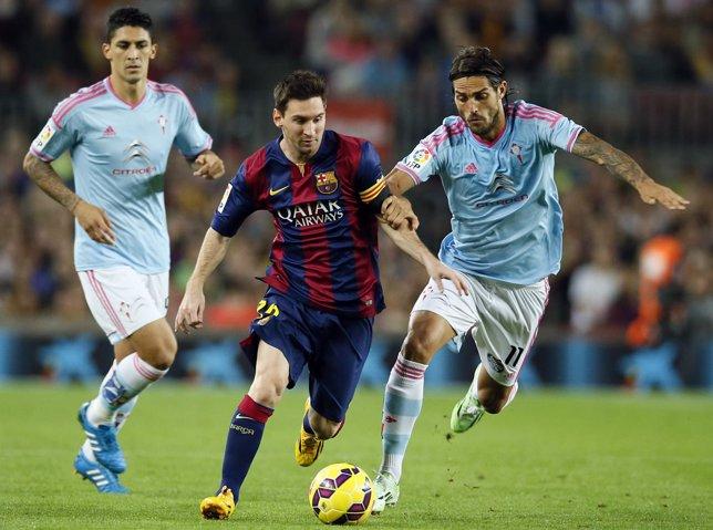 Barcelona Leo Messi Celta Joaquín Larrivey