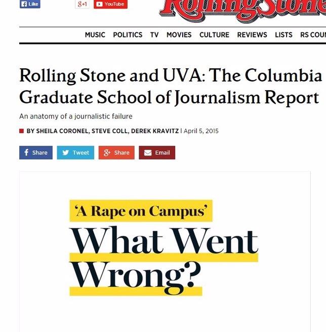 Rolling Stone se disculpa por un artículo