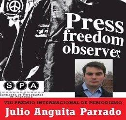 Cartel del VIII Premio Internacional de Periodismo Julio Anguita Parrado