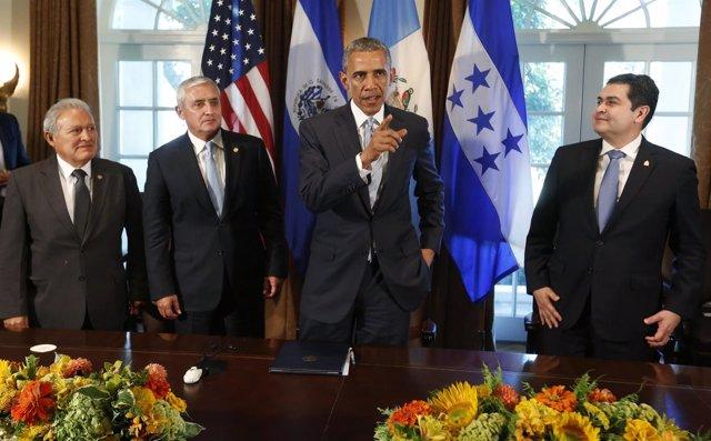 U.S. President Obama hosts a meeting with El Salvador's President Sanchez Ceren,