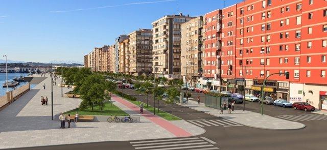 Infografía paseo marítimo Castilla-Hermida