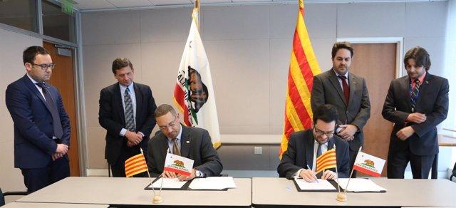 La Generalitat y California firman un acuerdo de cooperación económica y empresa