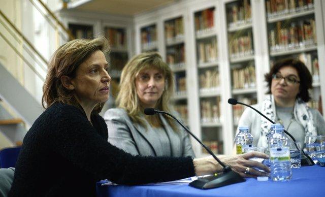 Isabel Martínez, Margarita Márquez y Almudena de la Cueva