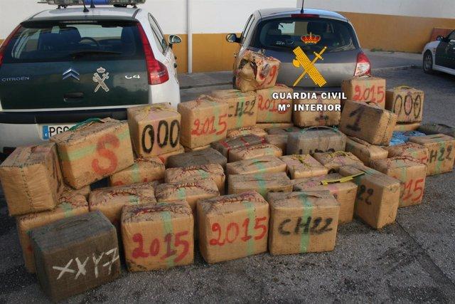 Dorga hachís incautado a organización criminal que la traída desde marruecos