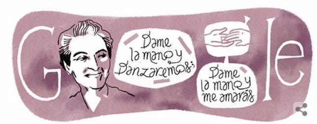 Google homenajea a Gabriela Mistral