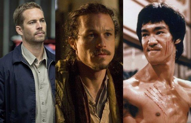 Paul Walker, Heath Ledger y Bruce Lee
