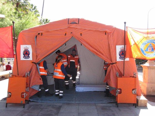 Hospital De Campaña De Protección Civil Instalado Con Motivo Del Bando