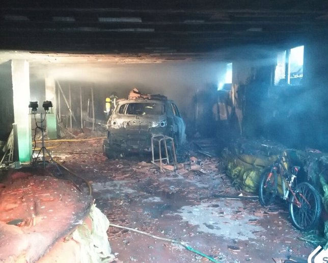 Incendio urbano en Llanes