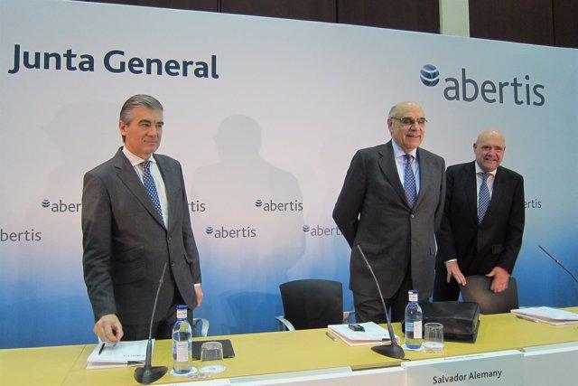 Francisco Reynés, Salvador Alemany y Juan M. Hernández Puértolas