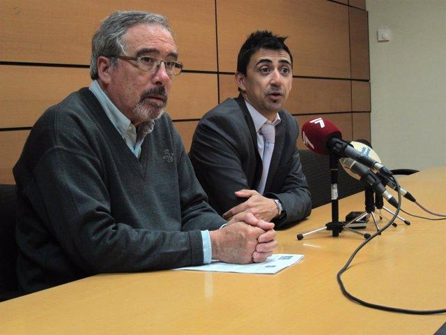 Sotomayor y Serna (UPyD Murcia) en rueda de prensa