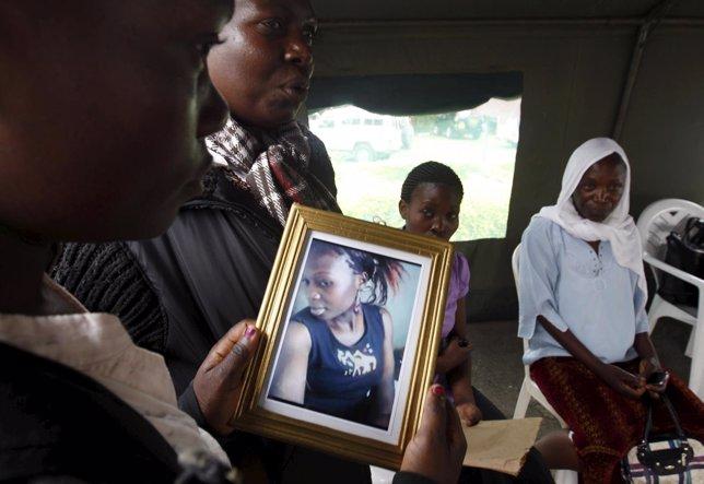 Víctimas tras el atentado en la Universidad de Garissa, en kenia
