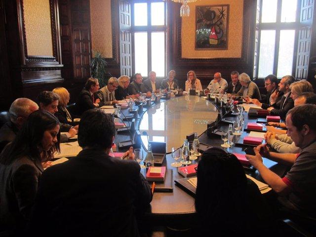Reunión de la Mesa del Parlament y de la Junta de Portavoces.