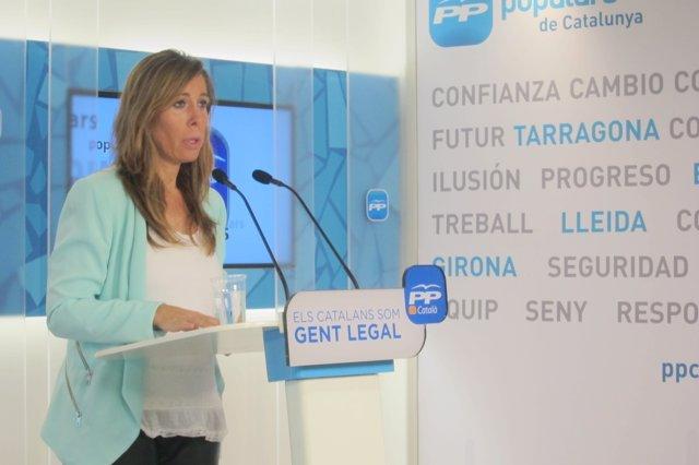 La líder del PP catalán, Alicia Sánchez-Camacho