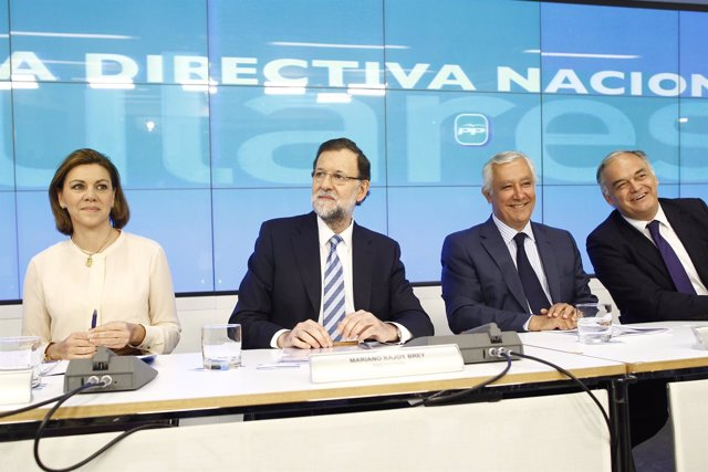 Rajoy preside la Junta Directiva Nacional del PP