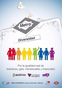 Cartel contra la discriminación y a favor de la diversidad