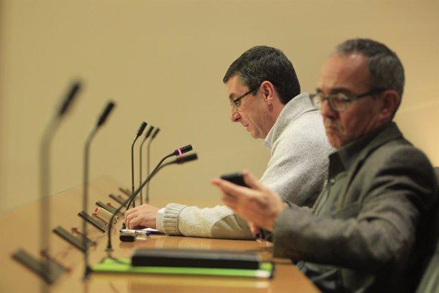José Luis Centella y Joan Coscubiela