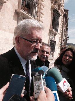 Antonio Ávila, a la salida de su declaración en el TSJA