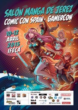 Cartel del Salón Manga de Jerez 2015