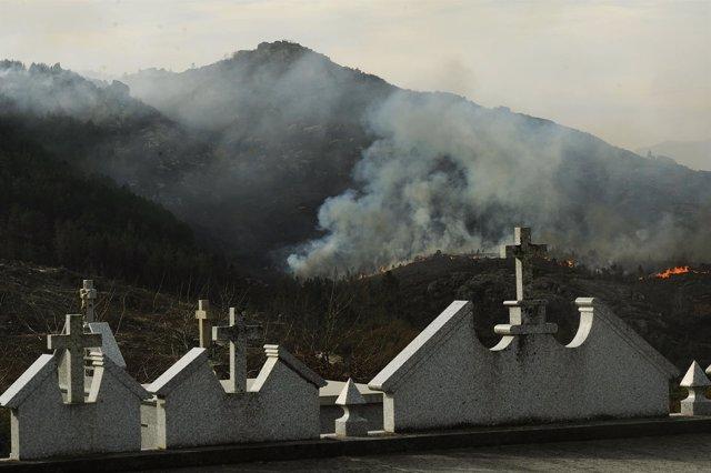 Incendio en el Xurés (Ourense)
