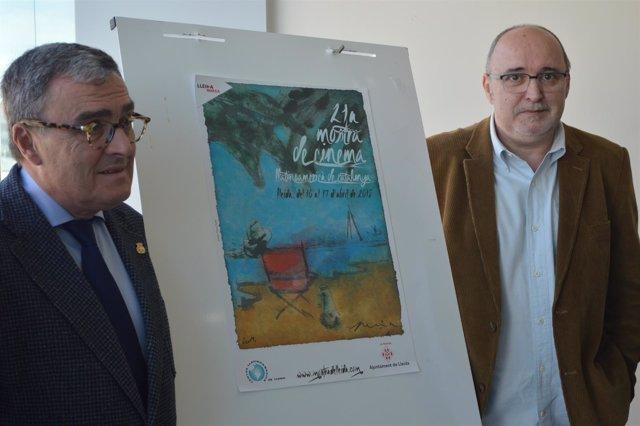 El alcalde de Lleida, Àngel Ros y el director de la Mostra de Cine Llatinoam.
