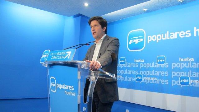 El secretario general del PP de Huelva, Guillermo García Longoria.