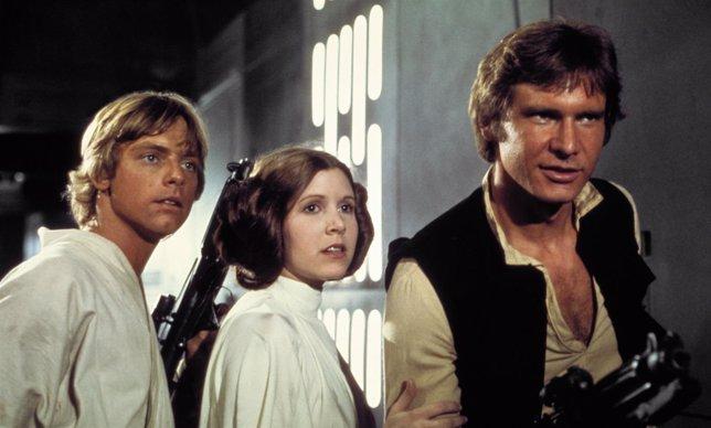 Han Solo, Luke y Leia en Star Wars