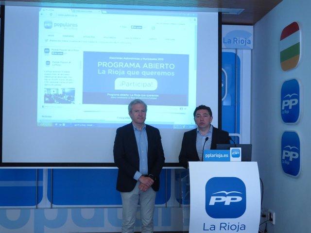 Programa abierto del PP presentado por Cuevas y Del Río