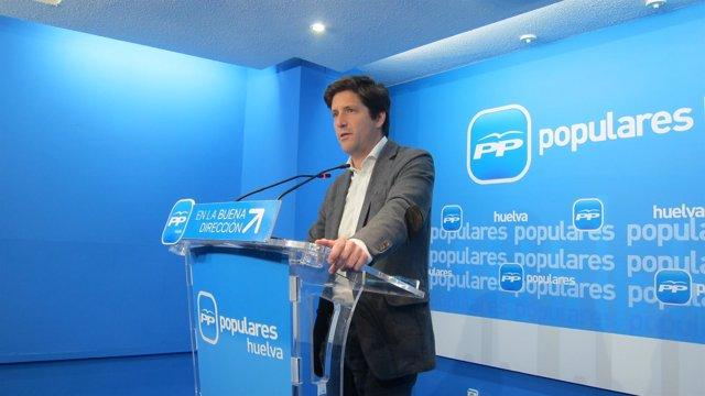 El portavoz del PP en la Diputación de Huelva, Guillermo García Longoria.