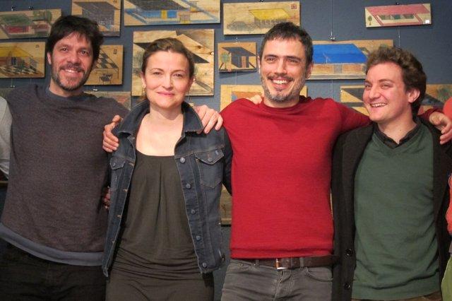 Los actores Iván Benet, Cristina Genebat, Julio Manrique y Pol López