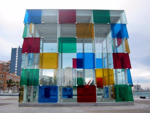Centre Pompidou Málaga en el Cubo del puerto