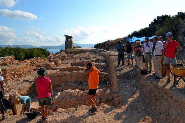 La zona de excavaciones en la Pobla d'Ifach, en Calp