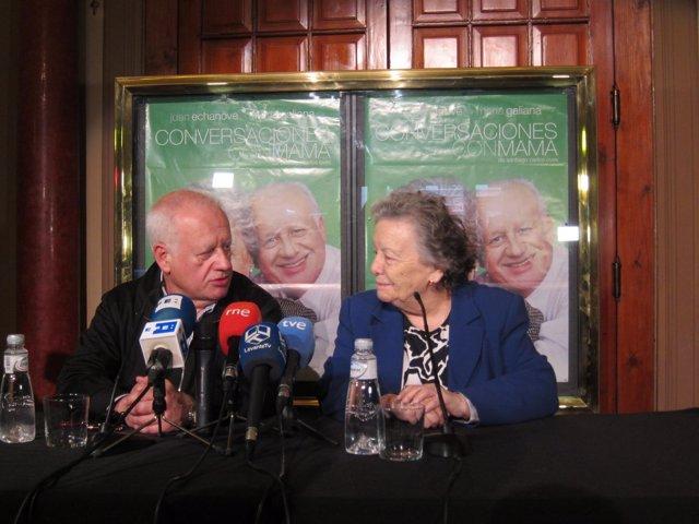 Juan Echanove y María Galiana durante la presentación en el Teatro Olympia