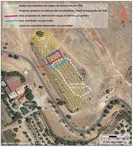 Localización de posibles fosas de la Guerra Civil, donde podría estar Lorca