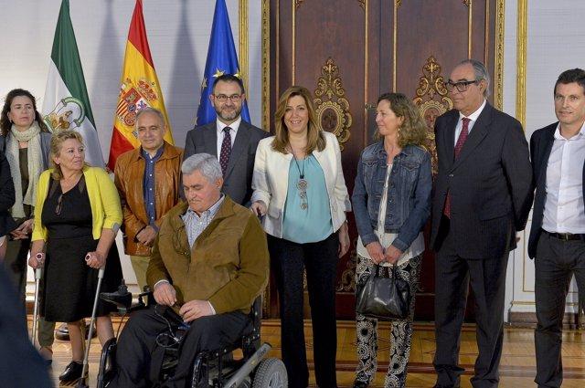 Susana Díaz se reúne con el Cermi-Andalucía