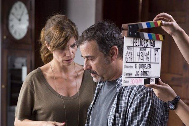 Maribel Verdú y Eduard Fernández en 'Felices 140'