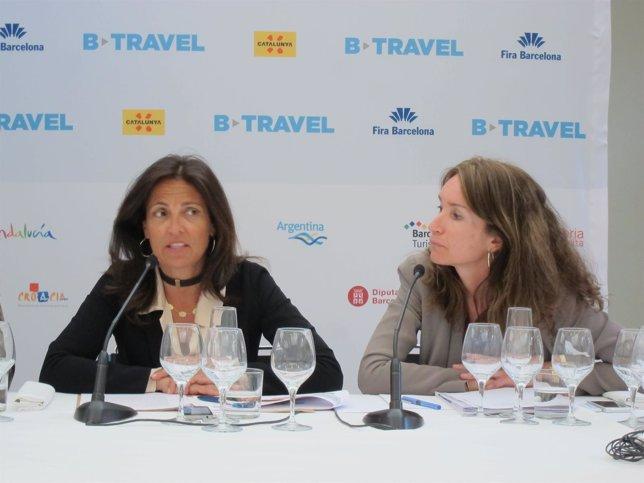 La dtora.Gral.De Turismo M.Muro y la dtora.De B-Travel M.Serra
