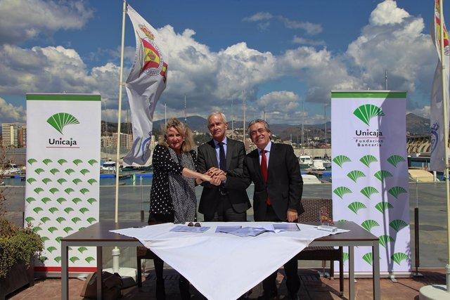 Unicaja real club mediterráneo acuerdo desarrollo actividades deportivas
