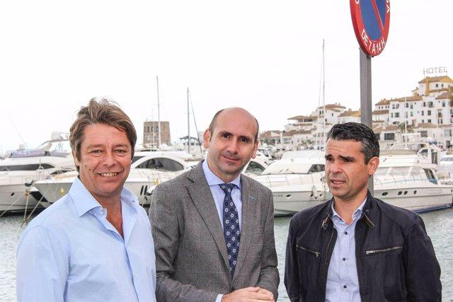Ricardo López, Conejo y Bernal en Marbella puerto banús propuestas diputación