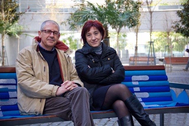 Los investigadores de la US José González y Mayte Padilla