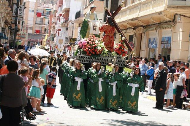 Ocupación hotelera en Águilas en Semana Santa, procesiones